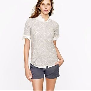 J. Crew Eyelet Top - Perfect Condition!